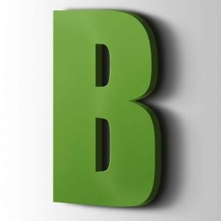 Kunststof Letter B Impact Acrylaat 6018 Yellow Green