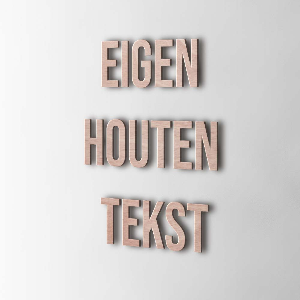 Bedenk en ontwerp je eigen houten tekst