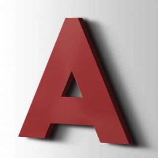 Kunststof Letter A Big John Acrylaat 3001 Signal Red