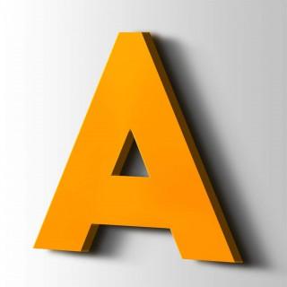 Kunststof Letter A Big John Acrylaat 1003 Signal Yellow