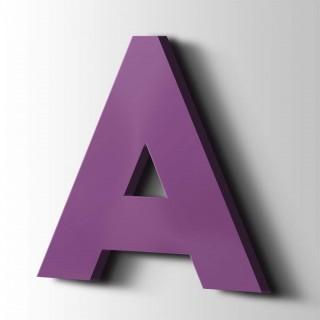 Kunststof Letter A Big John Acrylaat 4008 Signal Violet