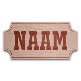 Houten Naambord Klassiek