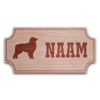 Houten Naambord Klassiek Berner Sennenhond