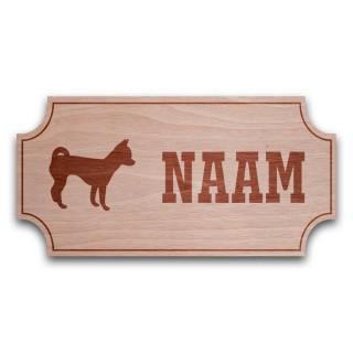 Houten Naambord Klassiek Chihuahua