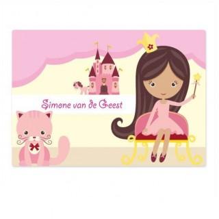Eigen naam prinsessen koffer stickers