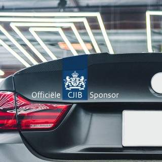 Officieel CJIB Sponsor Sticker Wit