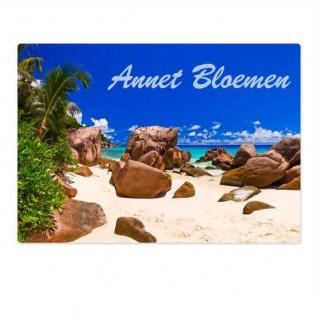 Eigen naam tropisch eiland koffer stickers