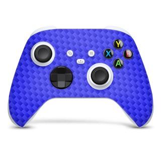 Xbox Series S Controller Skin Carbon Blauw