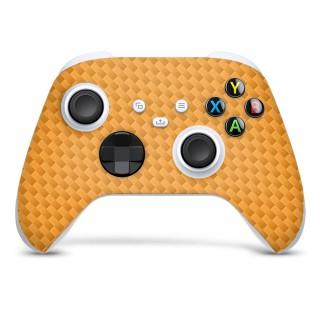 Xbox Series S Controller Skin Carbon Donker Oranje