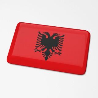 3D Vlagsticker Albanie