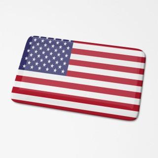 3D Vlagsticker Amerika