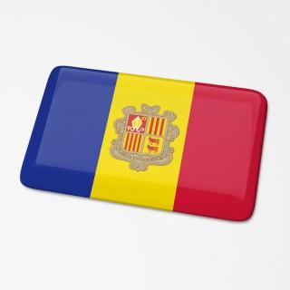 3D Vlagsticker Andorra