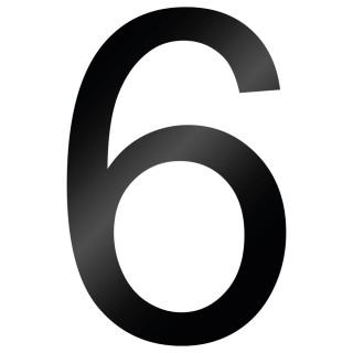 Cijfer Sticker Arial 6 - 1