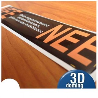 3D Nee Nee sticker brievenbus