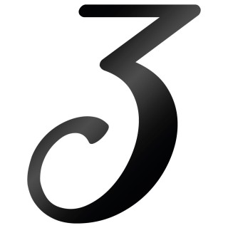 Cijfer Sticker Back To Black 3