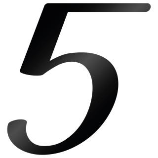 Cijfer Sticker Back To Black 5