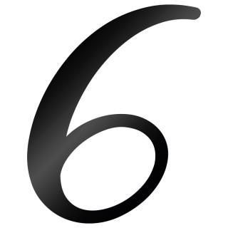 Cijfer Sticker Back To Black 6