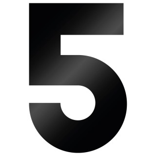 Cijfer Sticker Big John 5