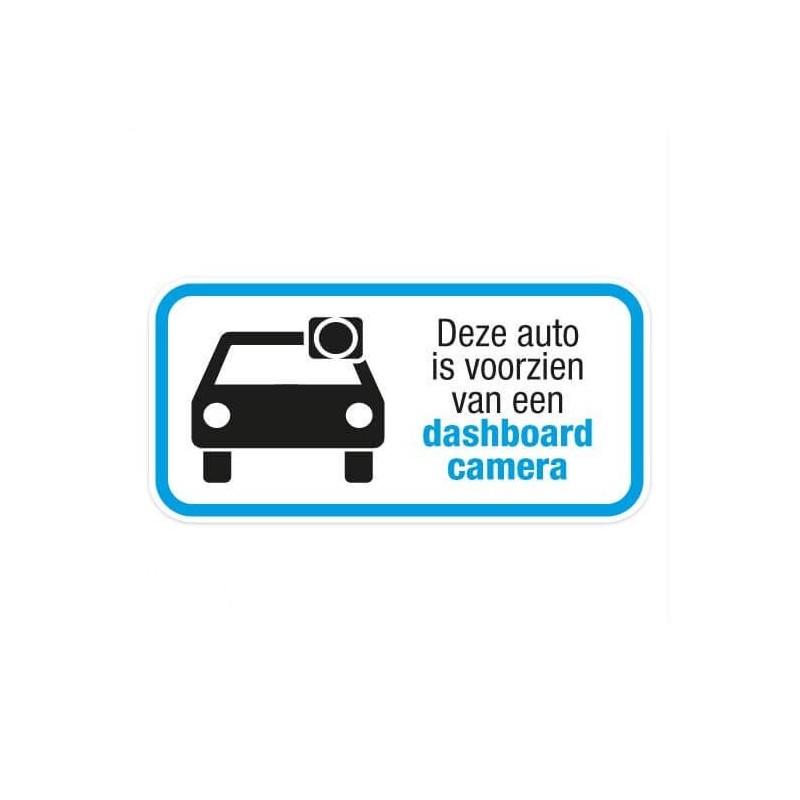 Dashcam deze auto is voorzien sticker