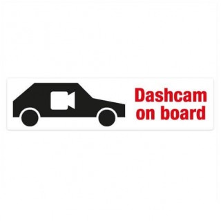 Dashcam on board bumper sticker