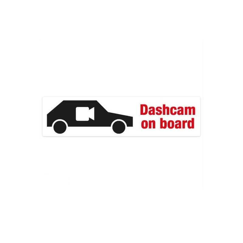 Dashcam on board bumper sticker