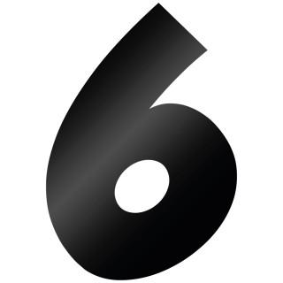 Cijfer Sticker Grobold 6