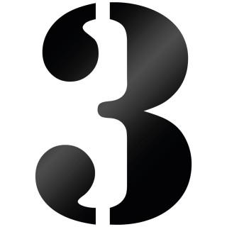 Cijfer Sticker Stencil 3