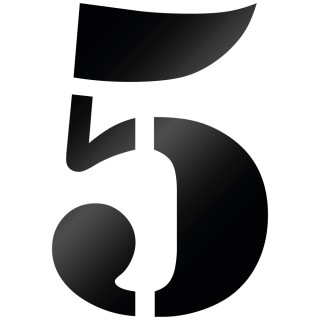 Cijfer Sticker Stencil 5