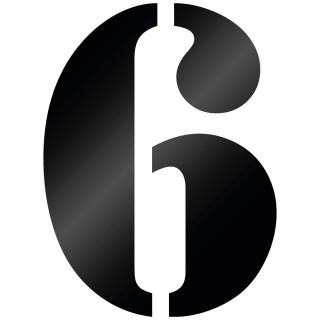 Cijfer Sticker Stencil 6