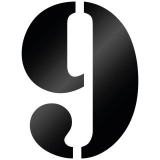 Cijfer Sticker Stencil 9