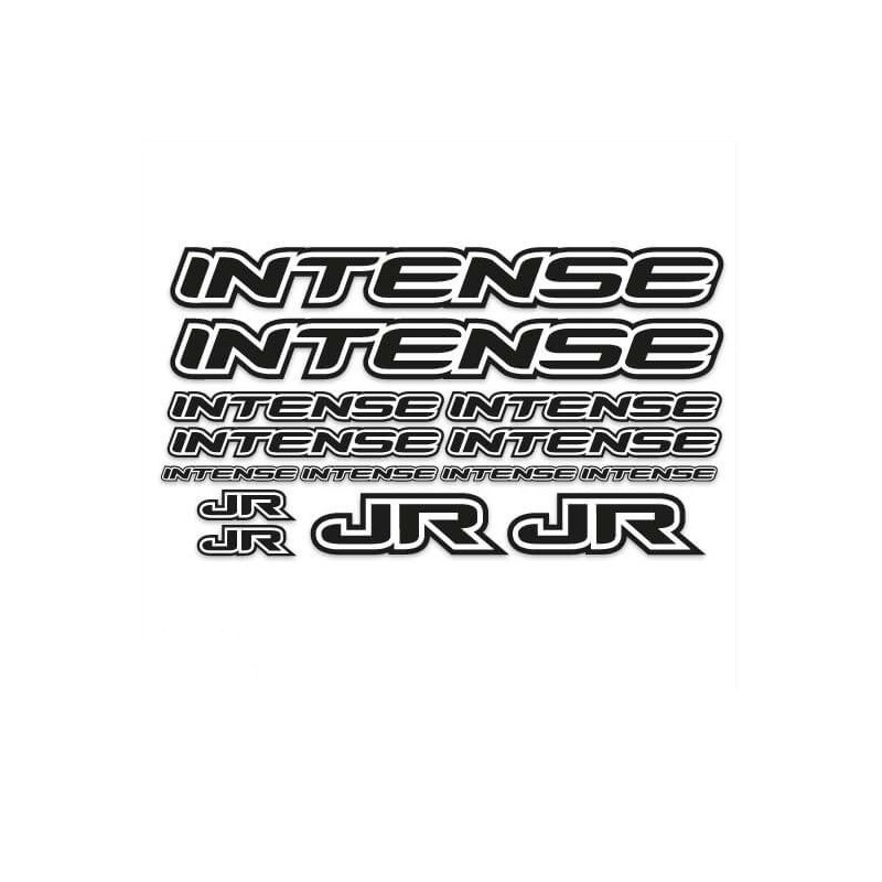 BMX Intense Sticker Set Zwart