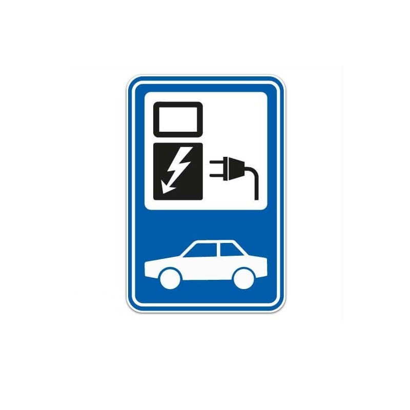 Auto Oplaadpunt Sticker
