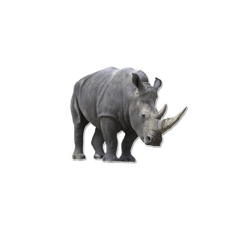 Neushoorn muursticker