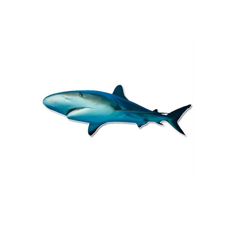 Grote witte Haai muursticker