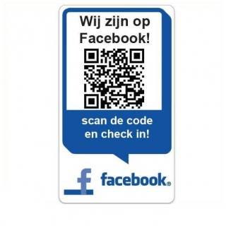 QR code Wij zijn op facebook Stickers