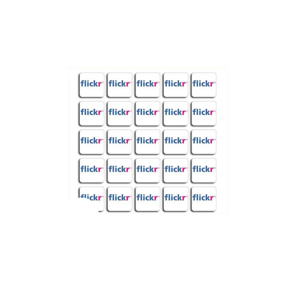 Flickr set van 100 stuks Vierkant Stickers