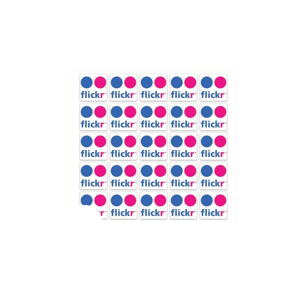 Flickr logo set van 100 stuks Vierkant Stickers