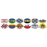 Auto provincie stickers